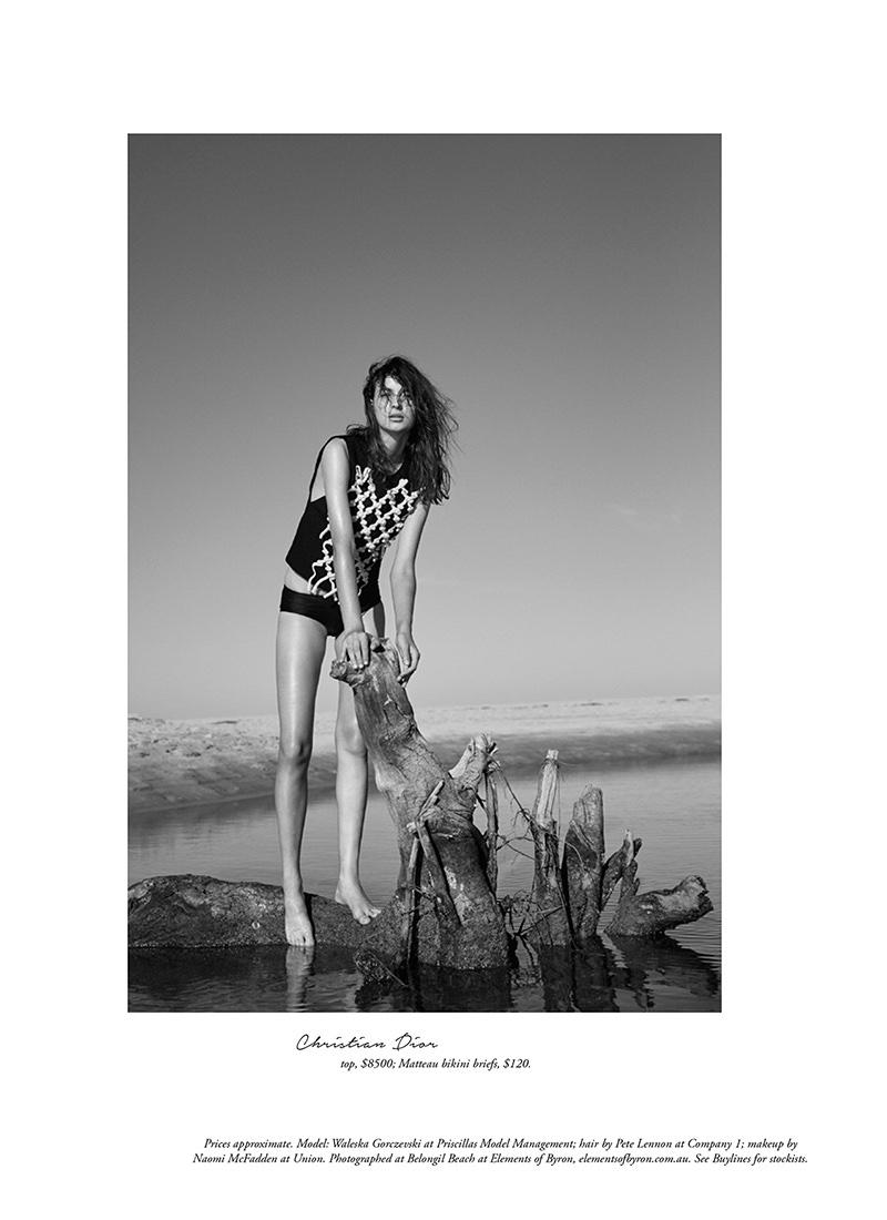 Waleska Gorczevski poses in Dior top and Matteau bikini briefs