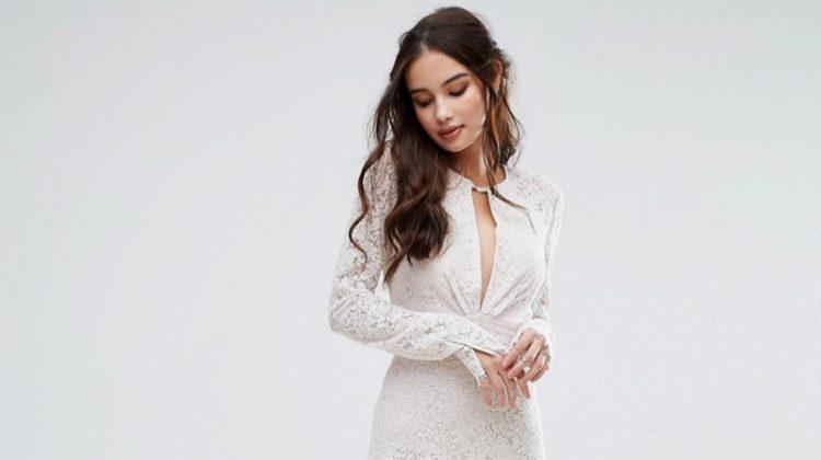 Wedding Idea: Black & White Bridesmaid Dresses