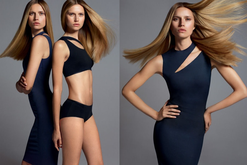 Wolford features form-fitting silhouettes in spring 2017 campaign