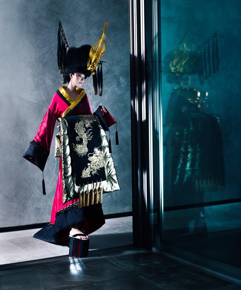 Yui Nikaido Models Junko Koshino's Dramatic Designs for S Moda