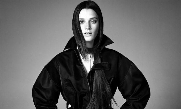 Leila Goldkuhl stars in Zara's spring-summer 2017 campaign