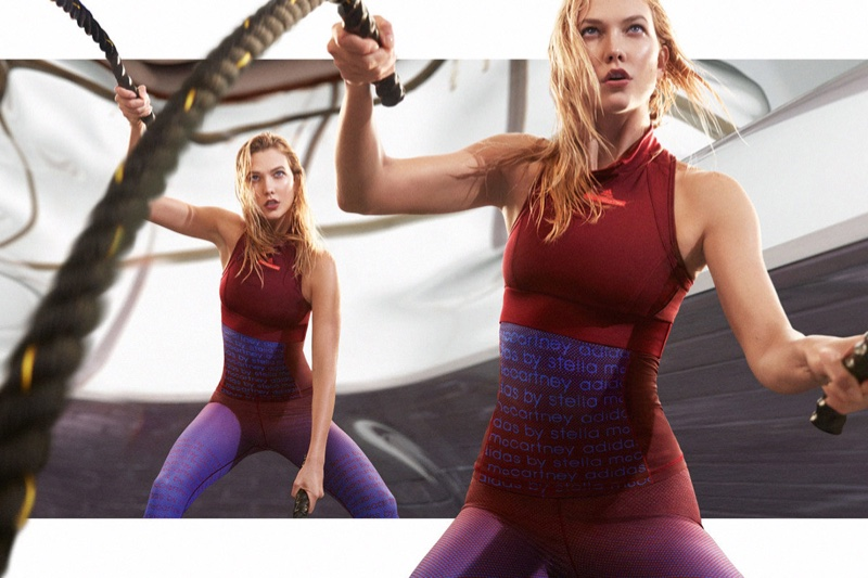 Karlie Kloss Works Out in Style for adidas by Stella McCartney Campaign