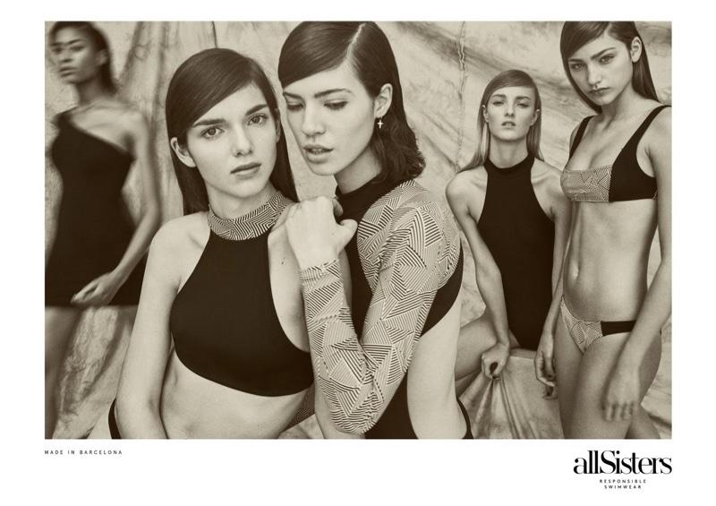 allSisters Spotlights Eco-Friendly Swimwear in Summer 2017 Campaign
