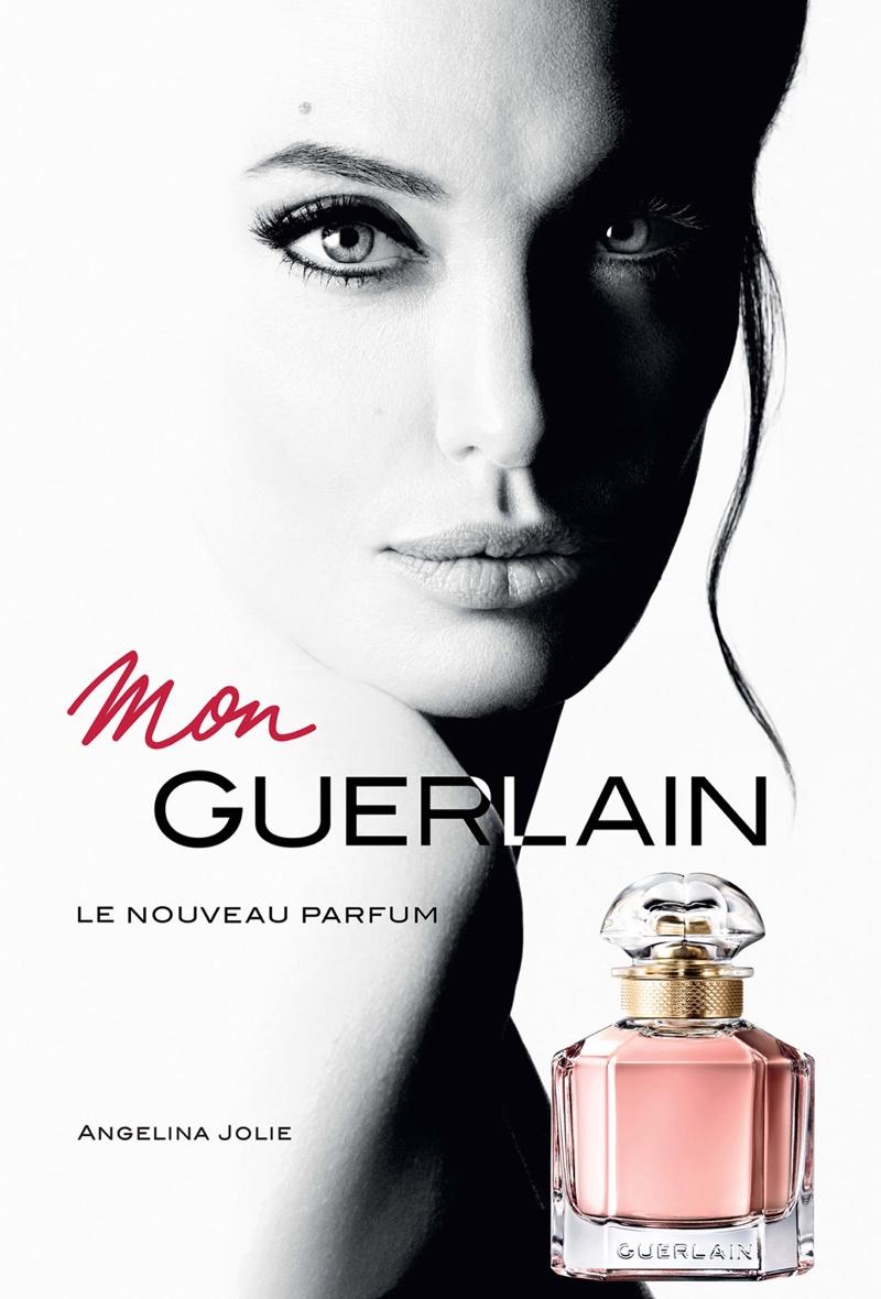 Angelina Jolie stars in Mon Guerlain Fragrance campaign