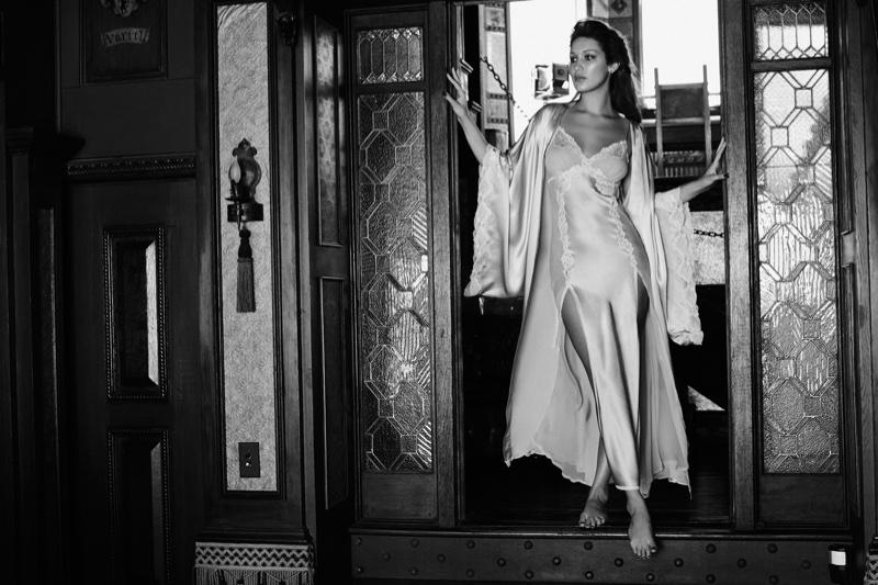 Bella Hadid models Stephanie Seymour's lingerie line - Raven & Sparrow