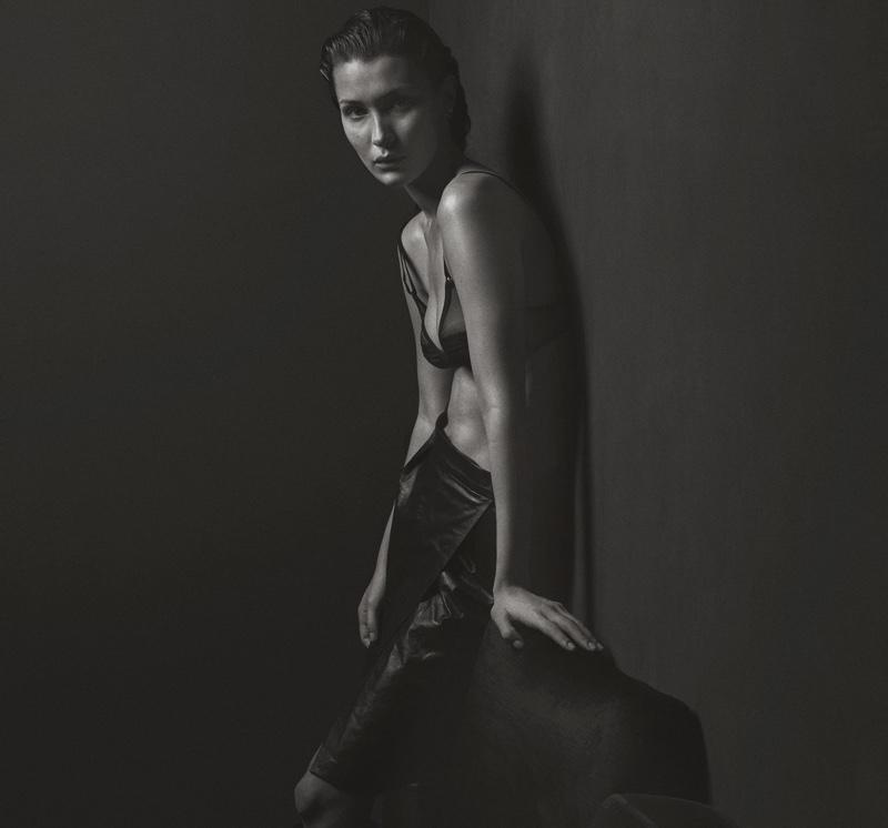 Bella Hadid models Yasmine Eslami bra