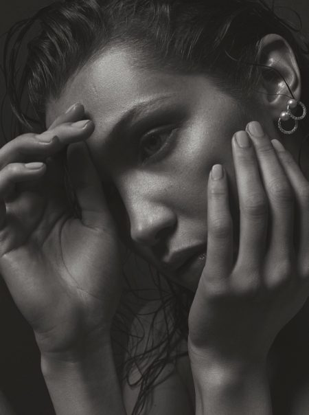Bella Hadid Channels Kate Moss in Sexy V Magazine Shoot