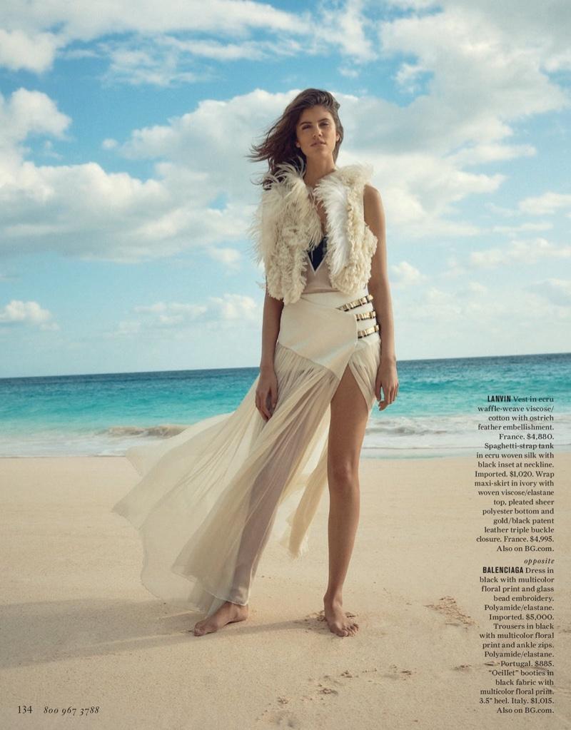 Antonina Petkovic Stuns In Beach Fashion For Bergdorf