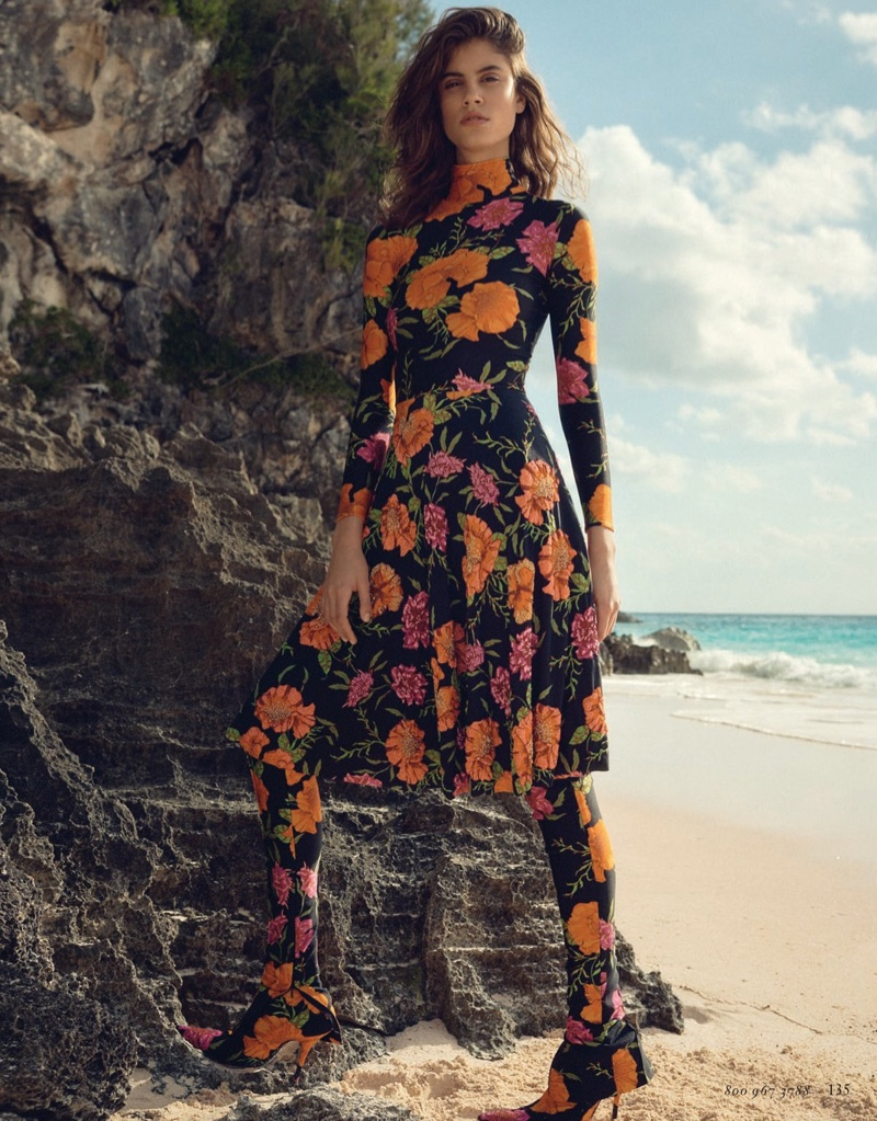 Antonina Petkovic Stuns In Beach Fashion For Bergdorf