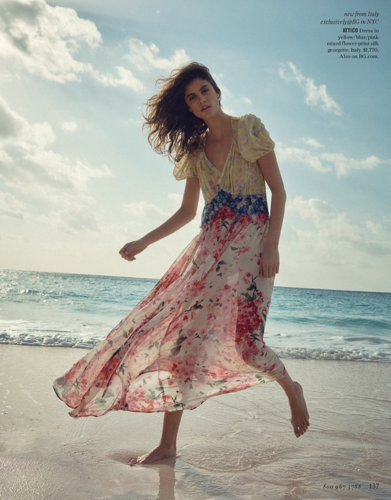Attico Mixed Floral Georgette Maxi Dress