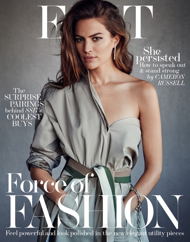 Cameron Russell on The Edit February 23, 2017 Cover