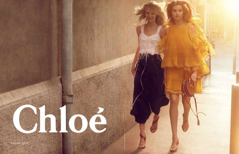 Luna Bijl and Ulrikke Høyer star in Chloe's spring 2017 campaign