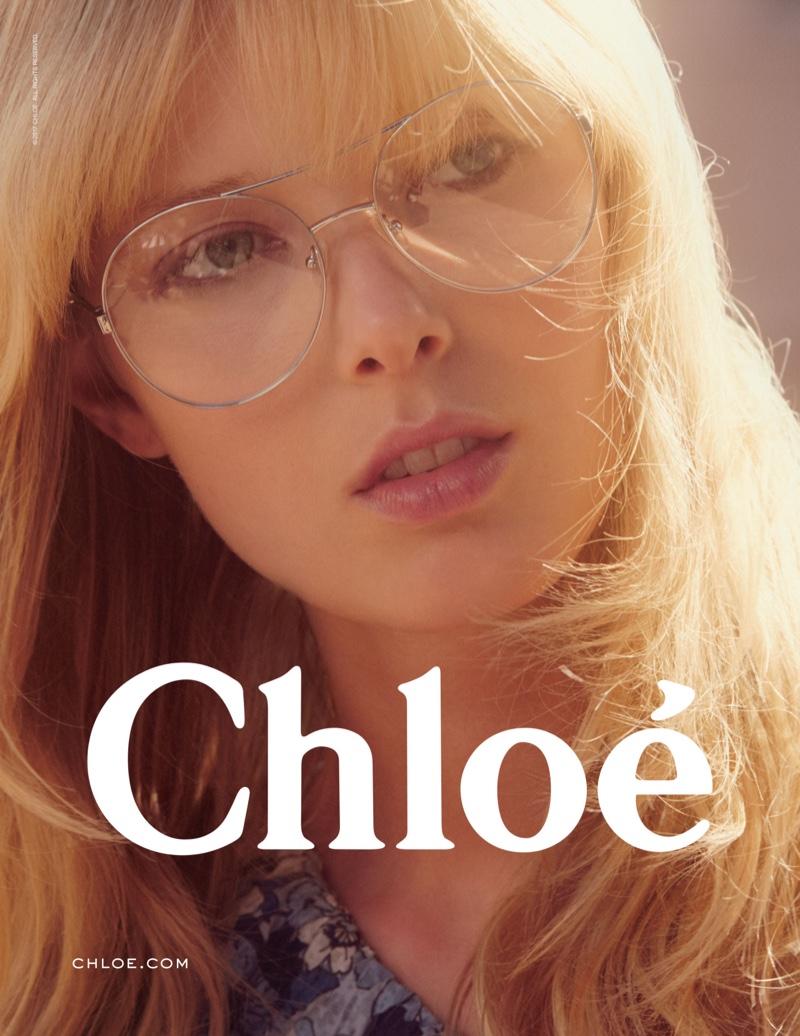 Ulrikke Høyer stars in Chloe's spring 2017 eyewear campaign