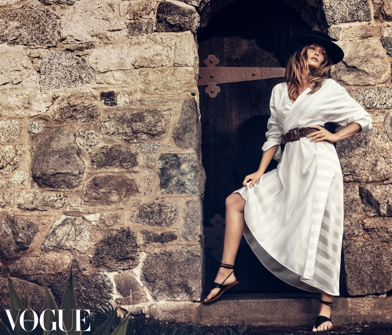 Supermodel Cindy Crawford stars in Vogue Australia's March issue