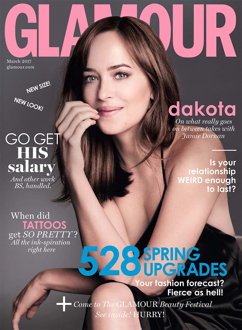 Dakota Johnson on Glamour UK March 2017 Cover