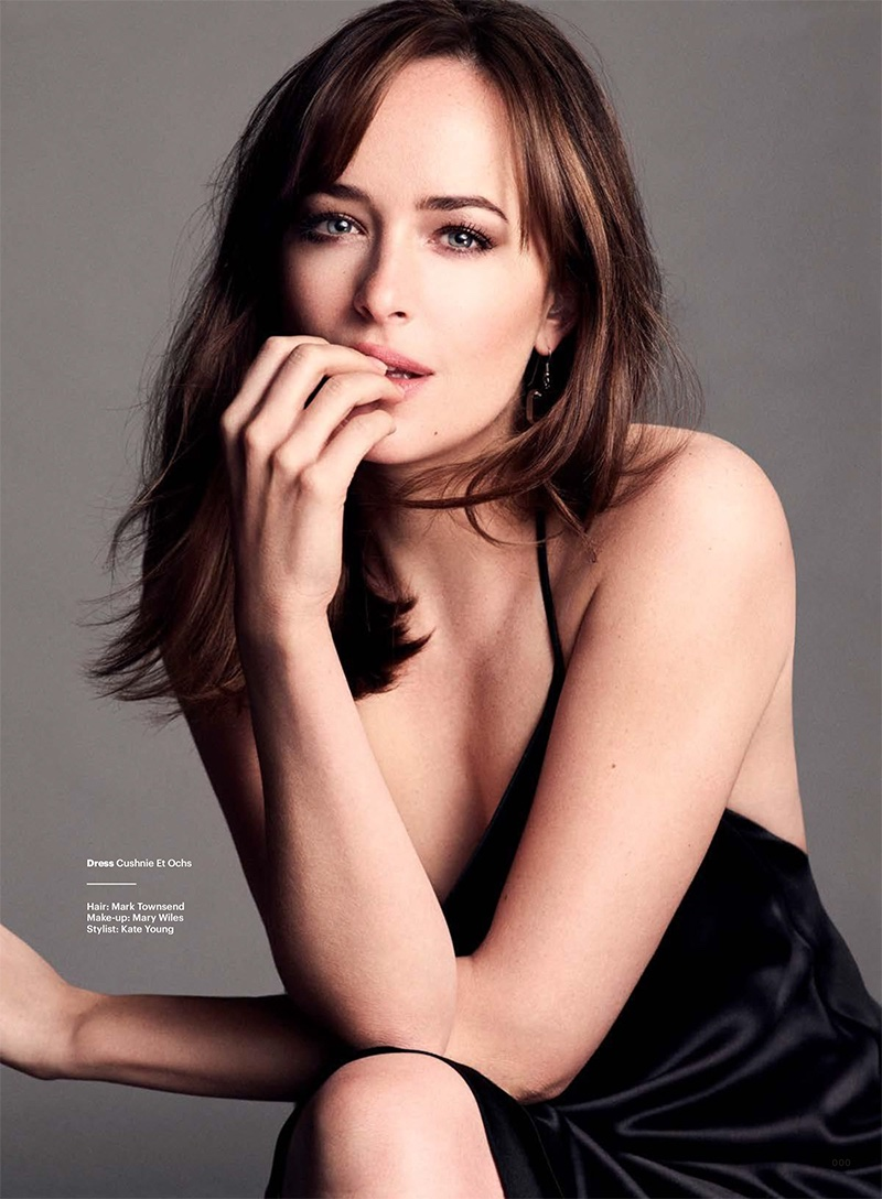 Dakota Johnson Stars in Glamour UK, Talks 'Fifty Shades Darker'