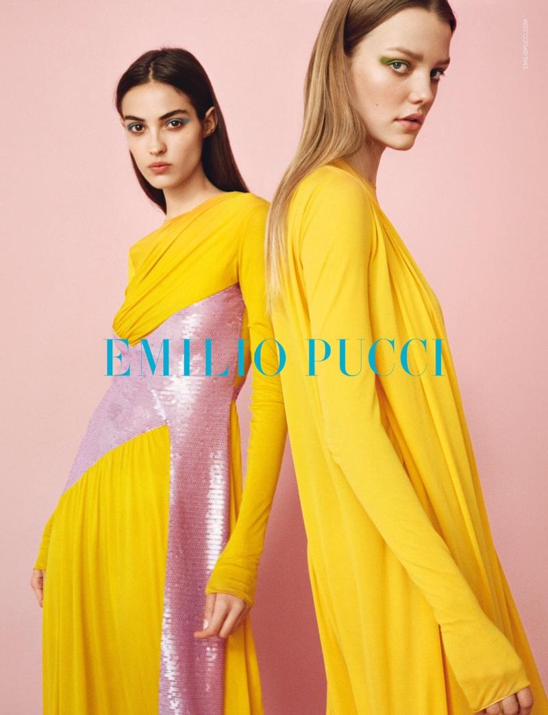 Bold colors captivate in Emilio Pucci's spring-summer 2017 campaign