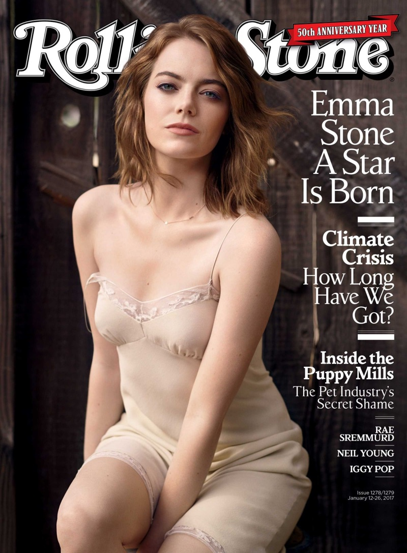Emma Stone on Rolling Stone January 12th, 2017 Cover