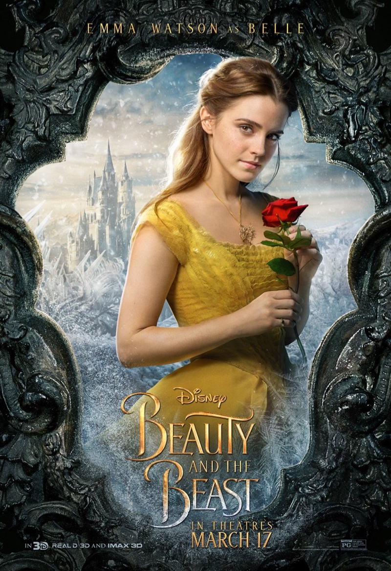 Emma Watson as Belle on Beauty and Beast poster. Photo: Disney