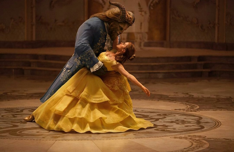 Dan Stevens and Emma Watson dance in Beauty and the Beast movie still. Photo: Disney