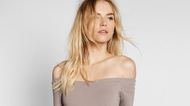 Express One Eleven Off-the-Shoulder Bodysuit