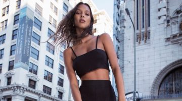 Lais Ribeiro, Catherine McNeil Model Free People's Statement-Making Pants