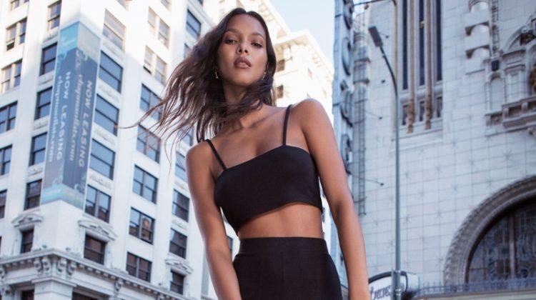 Lais Ribeiro, Catherine McNeil Model Free People's Statement-Making Pants