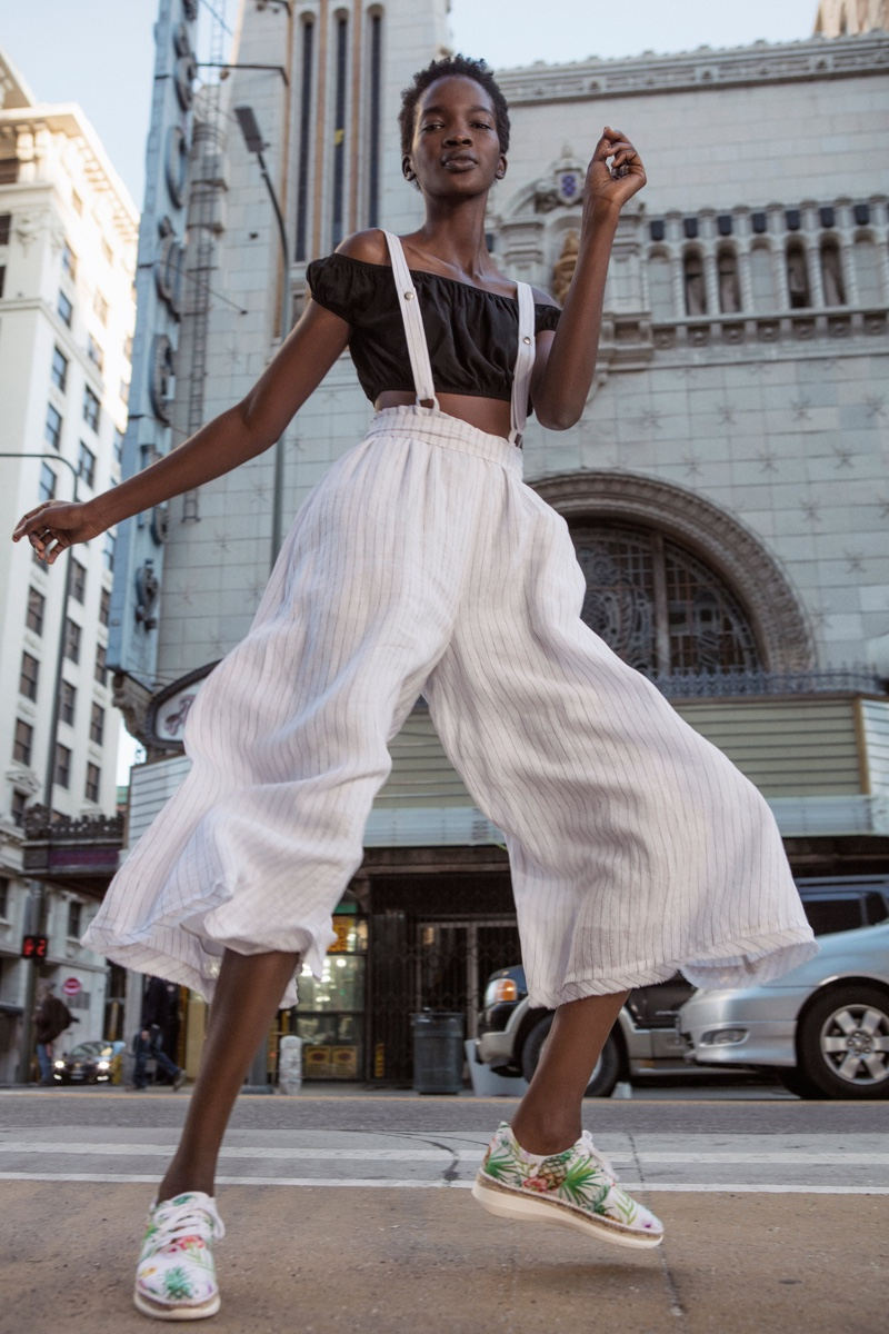 Intimately Free People Prairie Days Tiny Top, Free People Hop To It Maxi Jumper and FP Collection Jackson Sneaker