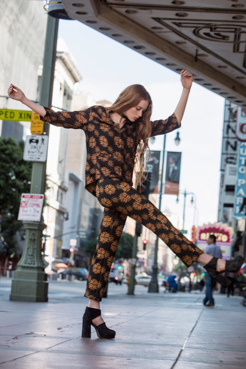 Free People The Abby Suit and Jeffery Campbell Infinity Heel Boot