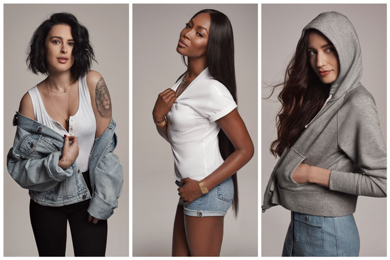 Naomi Campbell, Rumer Willis, Lizzy Jagger Channel the 90's in Gap Campaign