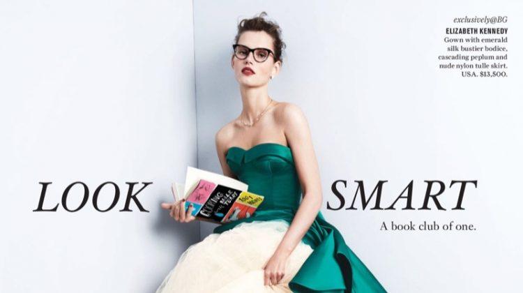 Giedre Dukauskaite stars in Bergdorf Goodman's spring 2017 catalog