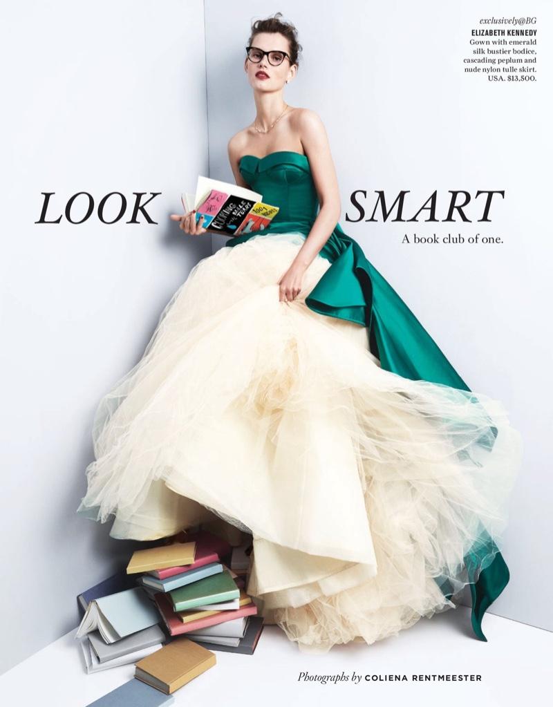 Giedre Dukauskaite Models Gorgeous Gowns for Bergdorf Goodman Magazine