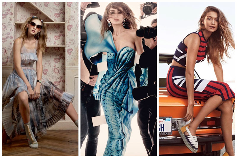Focus on Gigi Hadid: See the Top Model's Spring 2017 Campaigns