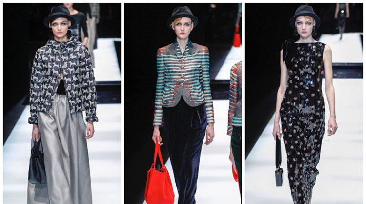 Giorgio Armani Spotlights Elegant Style for Fall 2017