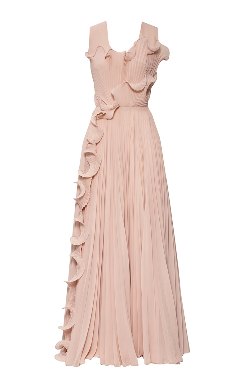 H&M Conscious Exclusive designs pink gown made from BIONIC® —recycled polyester