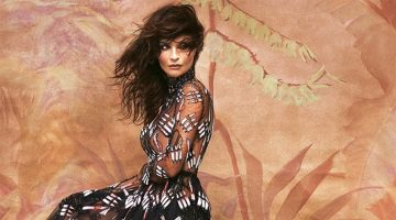Helena Christensen Enchants for the Pages of Grazia Italy