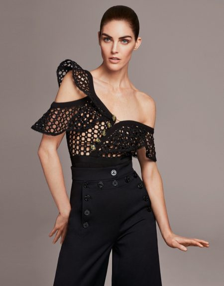 Hilary Rhoda Wows in the Spring Collections for Harper's Bazaar China