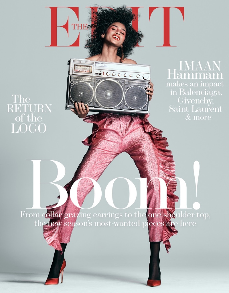 Imaan Hammam on The Edit February 2, 2017 Cover
