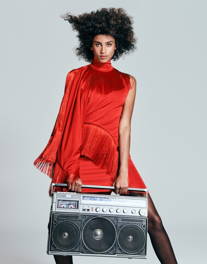 Imaan Hammam Rocks 80's Inspired Looks for The Edit
