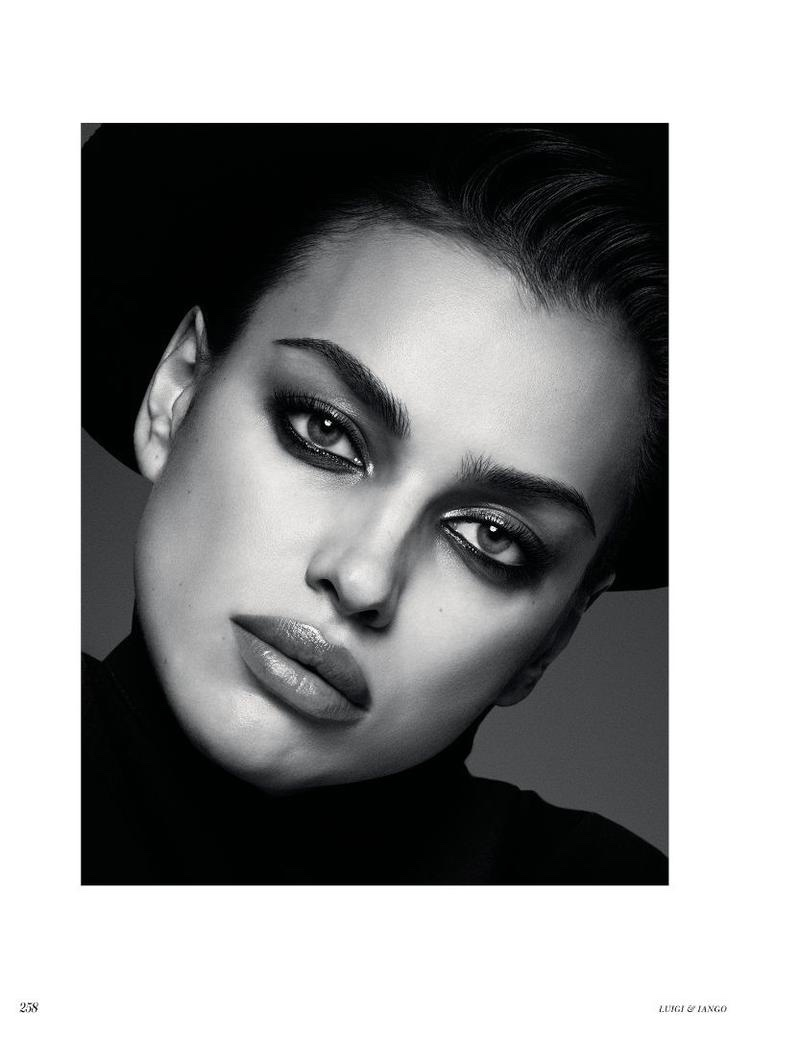Photographed in black and white, Irina Shayk gets her closeup