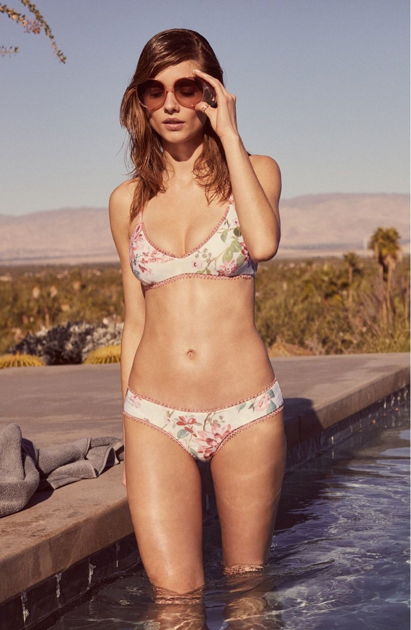 Beegee Margenyte Models Nordstrom's Vacation-Ready Swim Styles