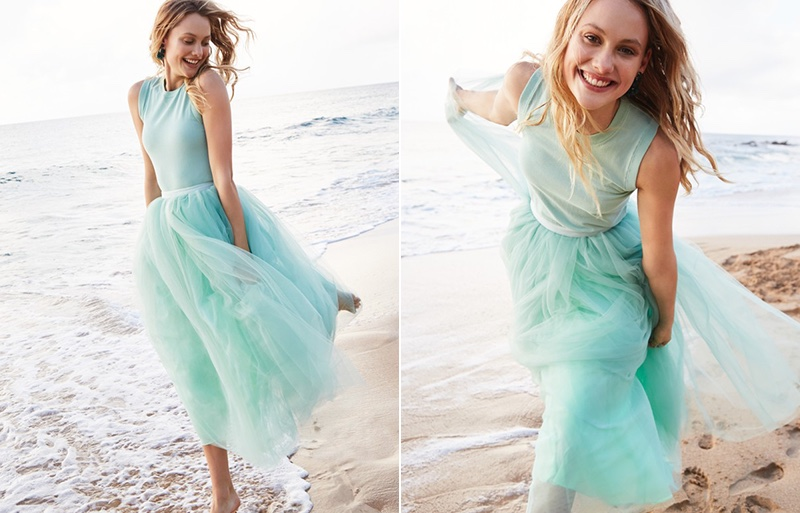 J. Crew Cotton Jackie Shell and Tulle Ball Skirt