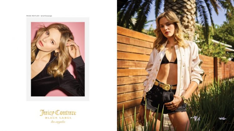 Paige Reifler stars in Juicy Couture's spring-summer 2017 campaign