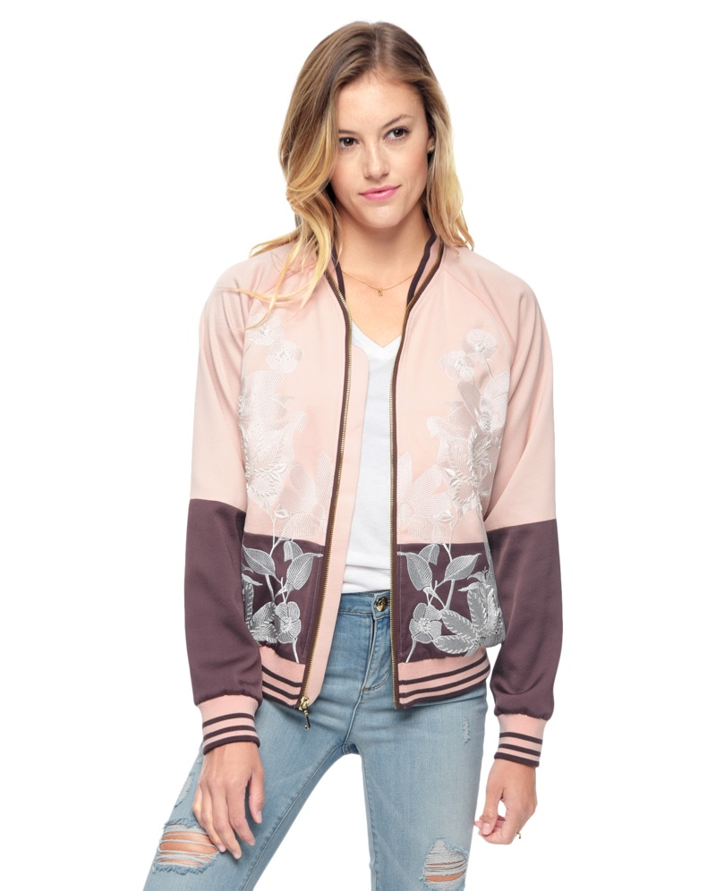 Juicy Couture Stockholm Floral Embellished Jacket