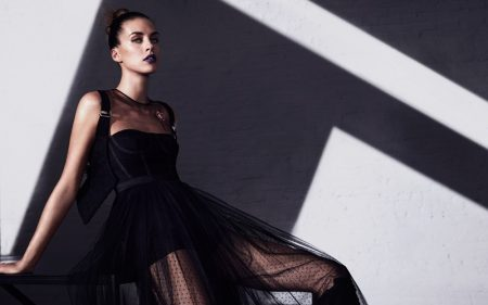 Julia Frauche Looks Striking in All Black for How to Spend It Magazine