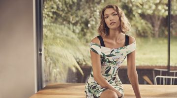 Arizona Muse Models Elegant Looks in Karen Millen's Spring 2017 Campaign