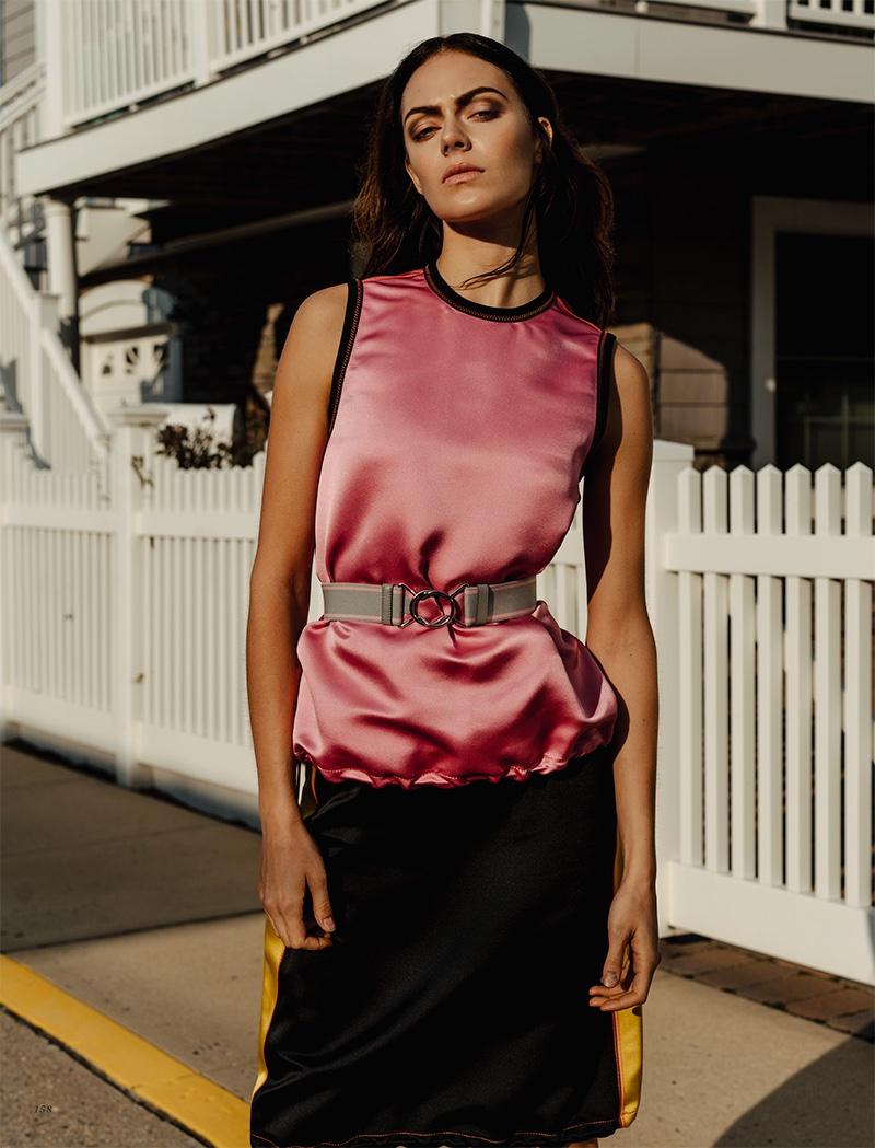 Kinga Rajzak Poses in the Resort Collections for Harper's Bazaar Kazakhstan