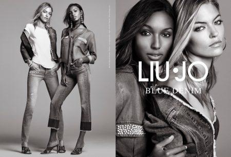 Martha Hunt & Jasmine Tookes Team Up for Liu Jo's Spring 2017 Campaign