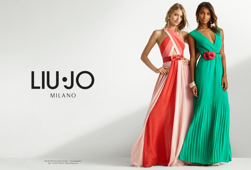 Martha Hunt & Jasmine Tookes Team Up for Liu Jo's Spring 2017 Campaign