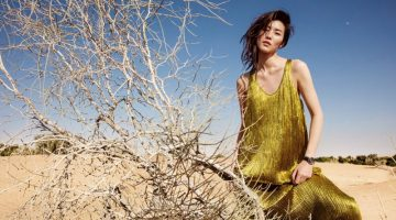Liu Wen Dazzles in the Desert for ELLE China